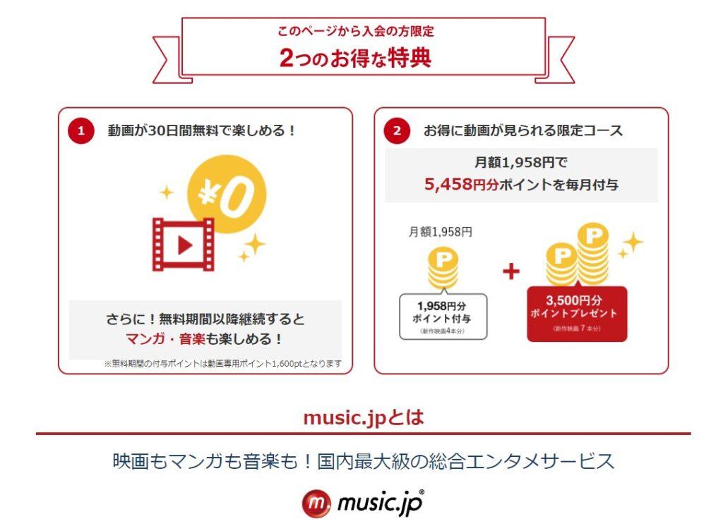 music.jp月額会員のポイント還元が凄い